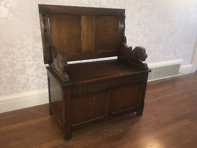 Antique English Monks Bench / Hall Bench