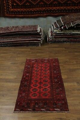 Great Foyer Size S Antique Tribal Turkoman Persian Rug Oriental Area Carpet 4X6