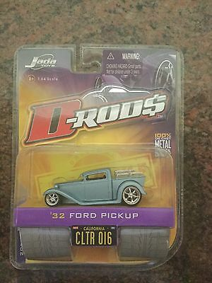 Jada Toys 1/64 Scale Diecast D-rods 1932 Ford Pickup in Light Blue