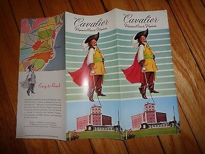 Vintage Brochure for The Cavalier Motel Hotel Resort Virginia Beach Virginia