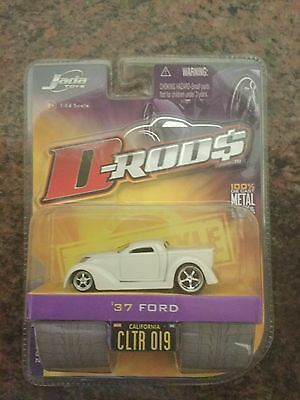 Jada Toys 1/64 Scale Diecast D-rods 1937 Ford Pickup in White