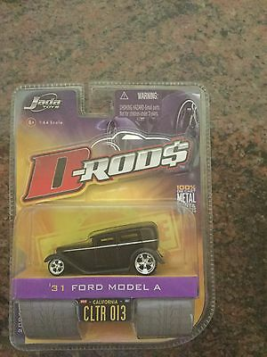 Jada Toys 1/64 Scale Diecast D-rods 1931 Ford Model A in Black