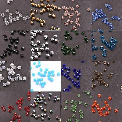 Top Quality Czech Glass Faceted Round Ball Spacer Loose Beads 3MM 4MM 6MM 8MM