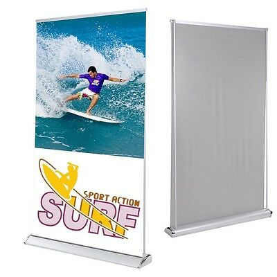 "47""x78"" Rear Projection Projector Screen Banner Stand Roll Up Trade Show Display"