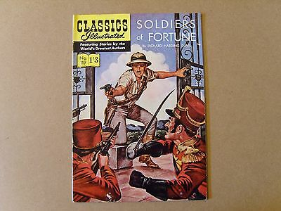 CLASSICS ILLUSTRATED  No. 119  - SOLDIERS OF FORTUNE by RICHARD HARDING DAVIS
