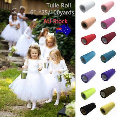Tulle Roll Spool Tutu Dress Fabric Craft Wedding Party Home Gift Box Wrap Decor