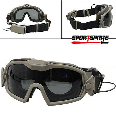 Tactical Regulator Updated Goggle Eye Protection SI-Ballistic Goggles With Fan