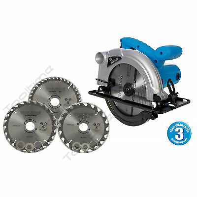 Silverline 1200W Tct Circular Saw 185Mm & 3 Pk 184Mm Blades 3Yr Warranty 845135