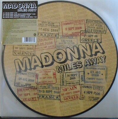 "MADONNA ~ Miles Away ~ 12"" Single PICTURE DISC"