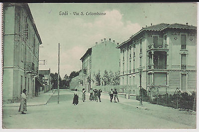Lodi Via San Colombano Animata 1913 Bella !