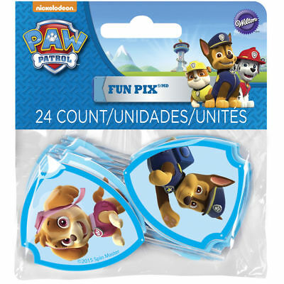 Wilton Paw Patrol Fun Pix Party Picks Cupcake Treat Decorations Toppers, 24-Pack