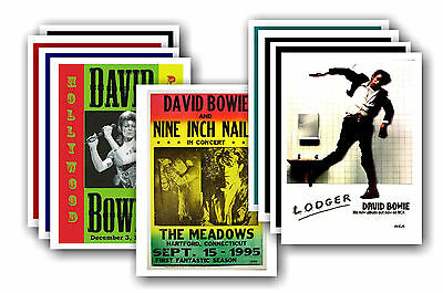 DAVID BOWIE  - 10 promotional posters - collectable postcard set # 1
