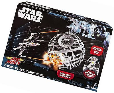 Star Wars X-Wing vs Death Star Rebel Assault Remote Control Drone Air Hogs New