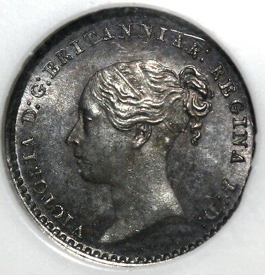 1863 NGC MS 63 VICTORIA Silver Maundy Penny 8K Minted GREAT BRITAIN (16111506C)