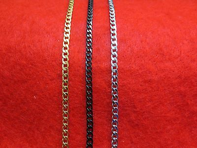 "Stainless Steel Men Women 16""-50"" 3Mm Gold,silver,black, Curb Chain Necklace"