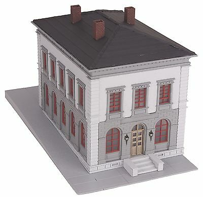MTH 30-9099, O Scale, Pre-assembled - Police Station - Gray & Black