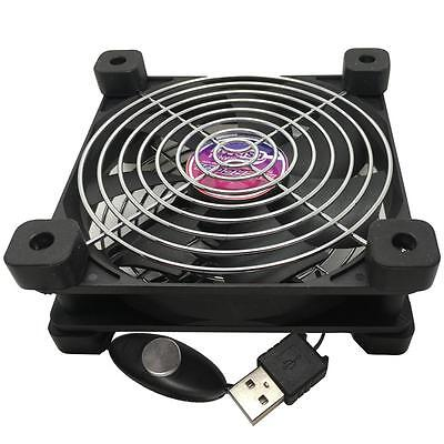 Evercool 120mm USB fan with feet and 2 speed selector UFAN-12