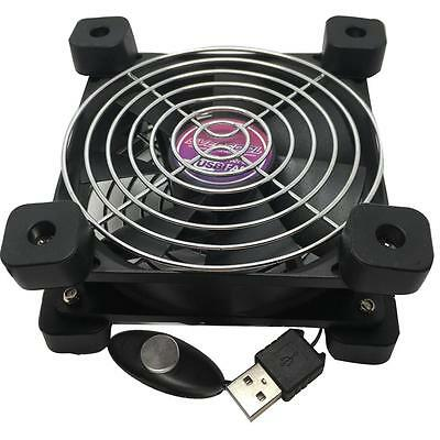 Evercool 80mm USB fan with feet and 2 speed selector UFAN-08