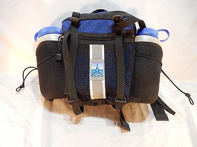 Excellent Clean Used GREGORY MIRAGE Hiking Waist Pack with Original Bottles