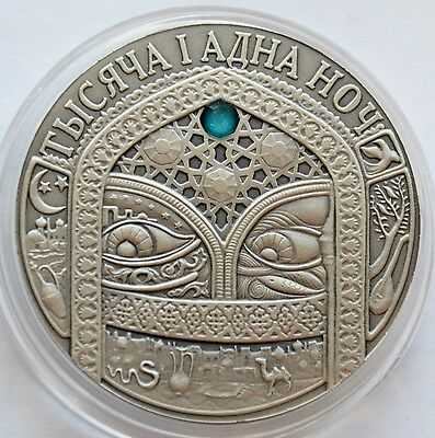 Belarus, 20 Roubles, 2006, The Thousand and one nights, Proof Silver Coin COA