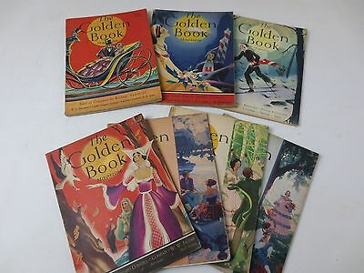 lot of 7 1930's the golden book magazine