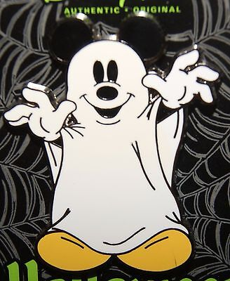Disney Halloween Ghost Mickey Mouse Pin New On Card
