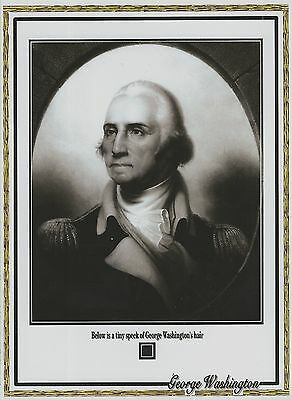 GEORGE WASHINGTON worn owned personal HAIR STRAND tiny DUST SPECK sized