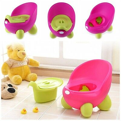 UK Easy Clean Kids Toddler Potty Training Chair Seat Removable Potty Lid Girl
