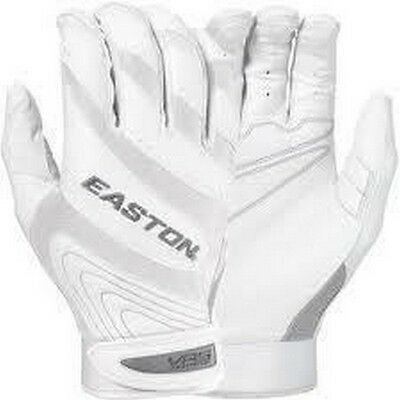 1 Pr Easton Synge VRS Fastpitch Women X-Large White/White Leather Batting Gloves