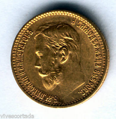 Russia 5 Rubles Nicolas II  1898 Gold @ Very Bella @