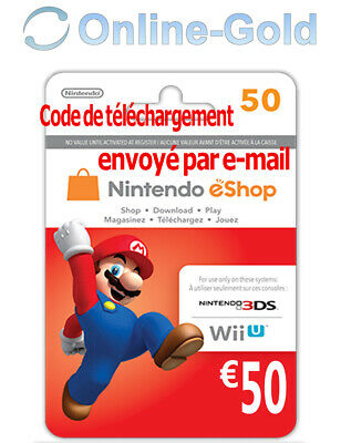 Nintendo Eshop CARD 50€ Carte de Jeu Console compatible 3DS/Wii U/Switch[NEUF]