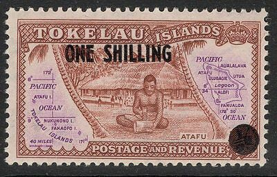 Tokelau Islands Sg5 1956 Surcharged 1/= Mnh