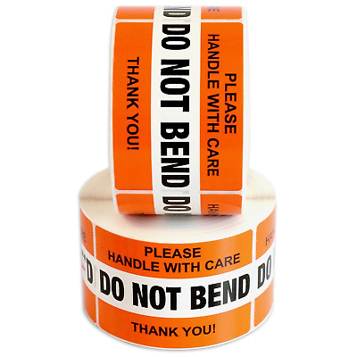 """DO NOT BEND Please Handle With Care Label Stickers 2"""" x 3"""" 1000 Labels"""