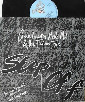 "GRANDMASTER MELLE MEL & THE FURIOUS FIVE ~ Step Off ~ 12"" Single PS"