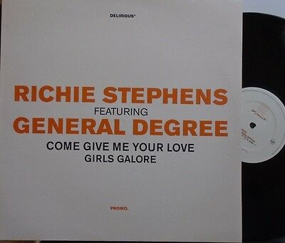 "RICHIE STEPHENS ft GENERAL DEGREE ~ Come Give Me Your Love ~ 12"" Single PS PROMO"