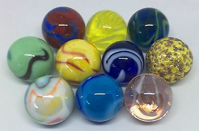 HOM Huge Selection 22mm Glass Marbles Stunning Collectable Gift