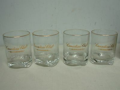 """8 Vintage Canadian Club """"be A Part Of It"""" Double Old Fashioned Bar Glasses Mib"""