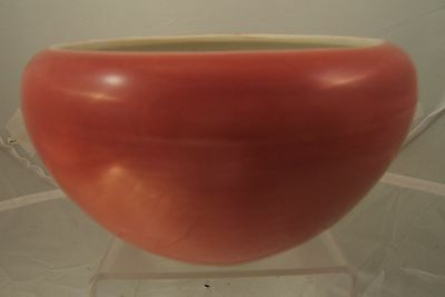 Chinese rose pink monochrome porcelain alms bowl C19th. famille