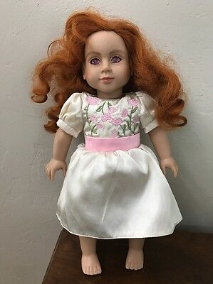 """My Twinn 18"""" Doll new Kate face Red Curly Hair 2013"""