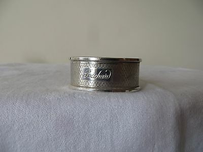 "SOLID SILVER ""RICHARD"" VINTAGE NAPKIN RING. BROADWAY & Co. BIRM. 1970, 12.1g"