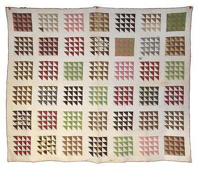 patchwork quilted quilted hand made cotton   68x80 antique original 1800