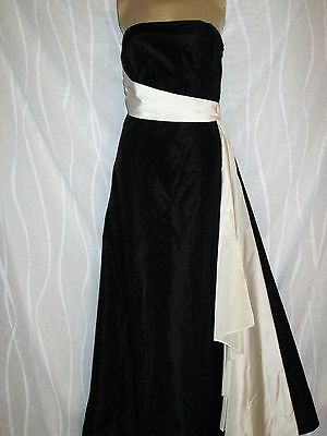 Debut Black & Cream Evening Party Maxi Dress Ballgown Special Occasion Size 8