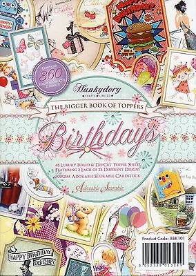 The Bigger Book Of Birthday Toppers 48 Sheet Hunkydory Die-Cut Topper Paper Pad