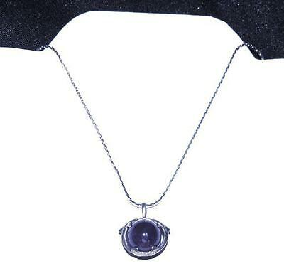 "Dolphin Ball Necklace with 16"" Silvertone Flat Chain"