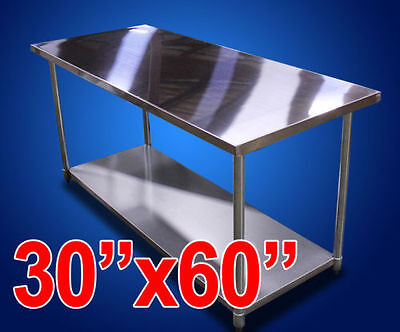 "New 30""x60"" Stainless Steel Prep Work Table NSF Commercial Kitchen Restaurant"