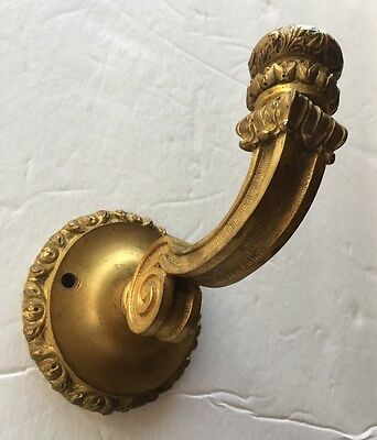 Antique Ornate bronze/brass French Curtain hook tie back architectural hardware