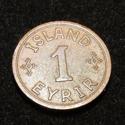 Very Nice 1942 Iceland 1 Eyrir Coin Lot 508