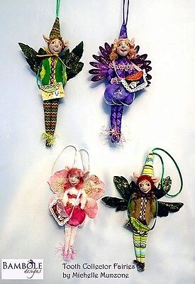 """*new* Cloth Art Doll (E-Pattern) """"tooth Collector Fairies"""" By Michelle Munzone"""