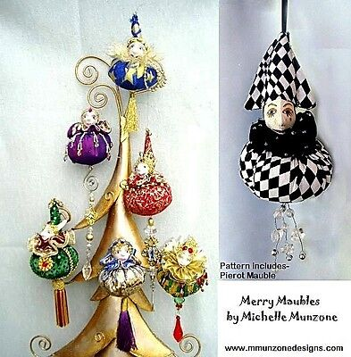 "*new* Cloth Art Doll (E-Pattern) ""merry Maubles"" By Michelle Munzone"
