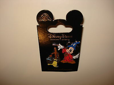 Disney Pin Trading Sorcerer Mickey Mouse with Broom Mop Bucket of Water 2 pins